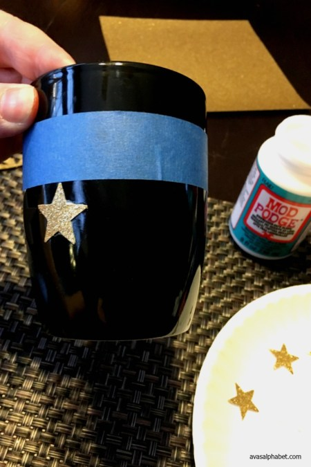 Gold Glitter Star Coffee Mugs - Ava's Alphabet