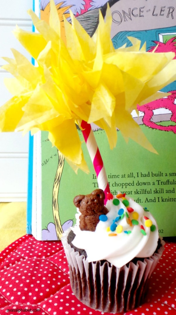 Dr. Seuss Truffula Tree Cupcake Toppers from Ava's Alphabet