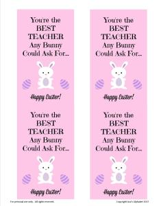 Teacher Appreciation for Easter from Ava's Alphabet