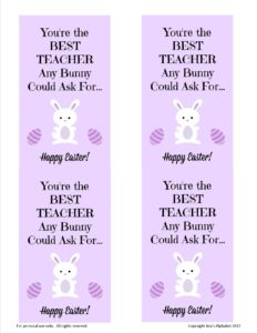 Teacher Appreciation for Easter from Ava's Alphabet