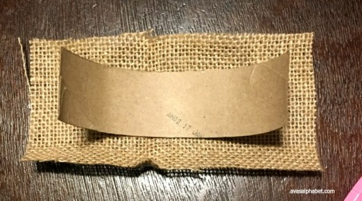 Simple Burlap Bunny Napkin Ring for Easter from Ava's Alphabet