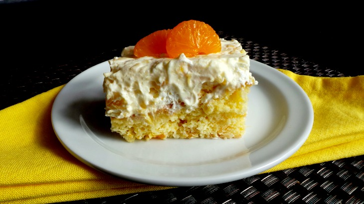 Delicious Citrus Cake with Pineapple Vanilla Frosting