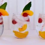 Sparkling White Peach Spritzers from Ava's Alphabet