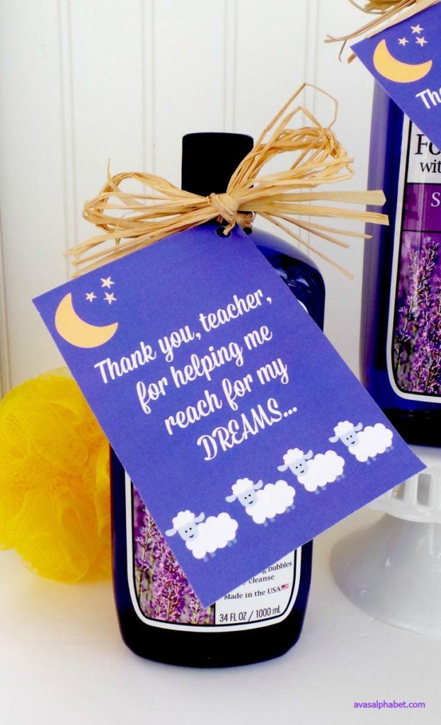 """Reach for my Dreams"" Teacher Appreciation Gift from Ava's Alphabet"
