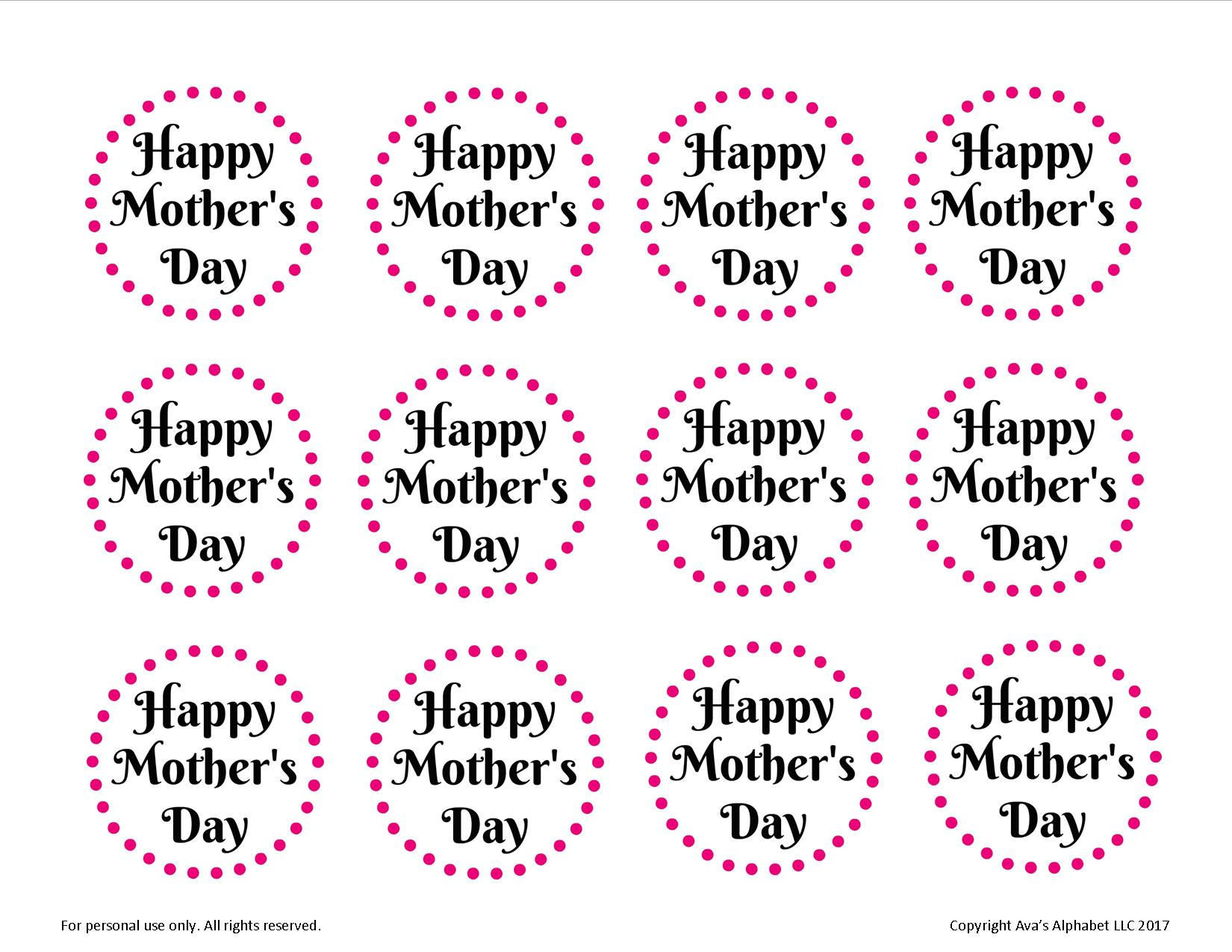 picture regarding Free Printable Mothers Day Tags titled Hand Painted Flowerpots for Moms Working day - Avas Alphabet