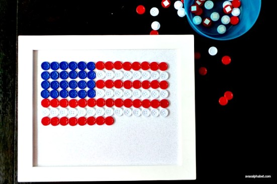 Patriotic Button Flag from Ava's Alphabet