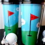 Make Your Own Golf Themed Travel Mug from Ava's Alphabet