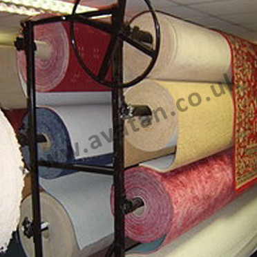 double sided carpet roll storage rack