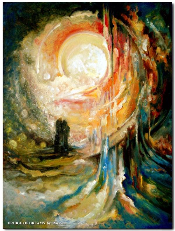 Abstract Landscape Paintings Freydoon Rassouli