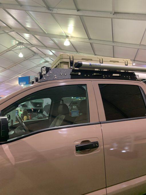 Nissan Titan roof rack side view