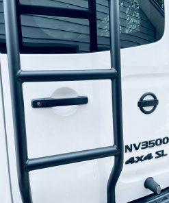 NV3500 rear ladder by Avatar Metal Works