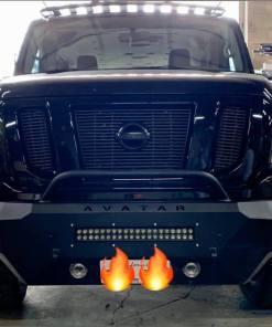 Nissan NV3500 Single Jack lightbar front bumper roof rack from avatar