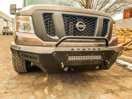 Nissan NV3500 Single Jack lightbar front bumper from Avatar Metal Works