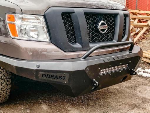 Nissan NV3500 Single Jack lightbar front bumper