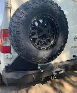 Nissan NV3500 rear winch bumper with swing spare tire