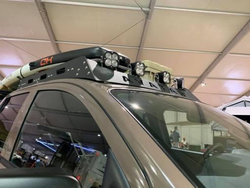 Nissan Titan roof rack with lights