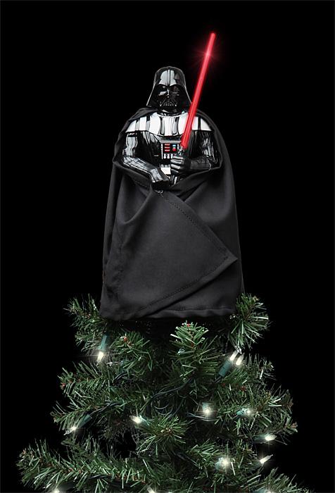 Dark Vador Et Yoda Au Sommet Du Sapin