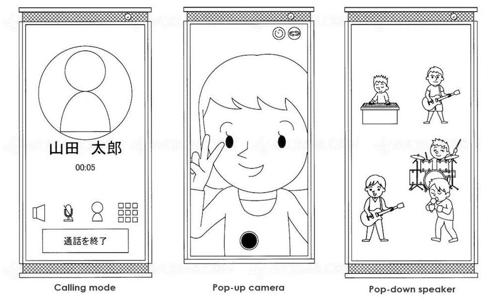 Smartphone Sony Xperia à double bord rétractable