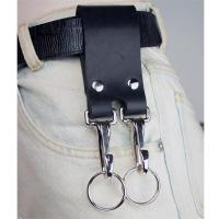 Double Leather Belt Strap Key Holder Super Duty Riveted