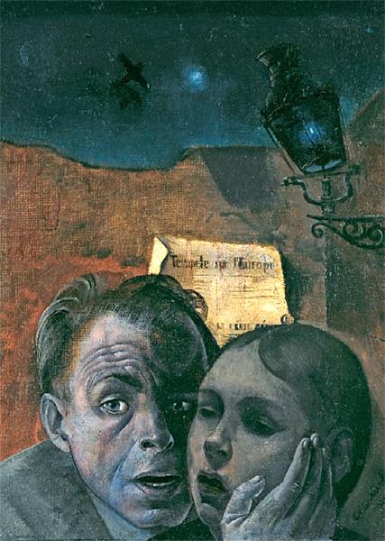 Felix Nussbaum: Angst (1941)