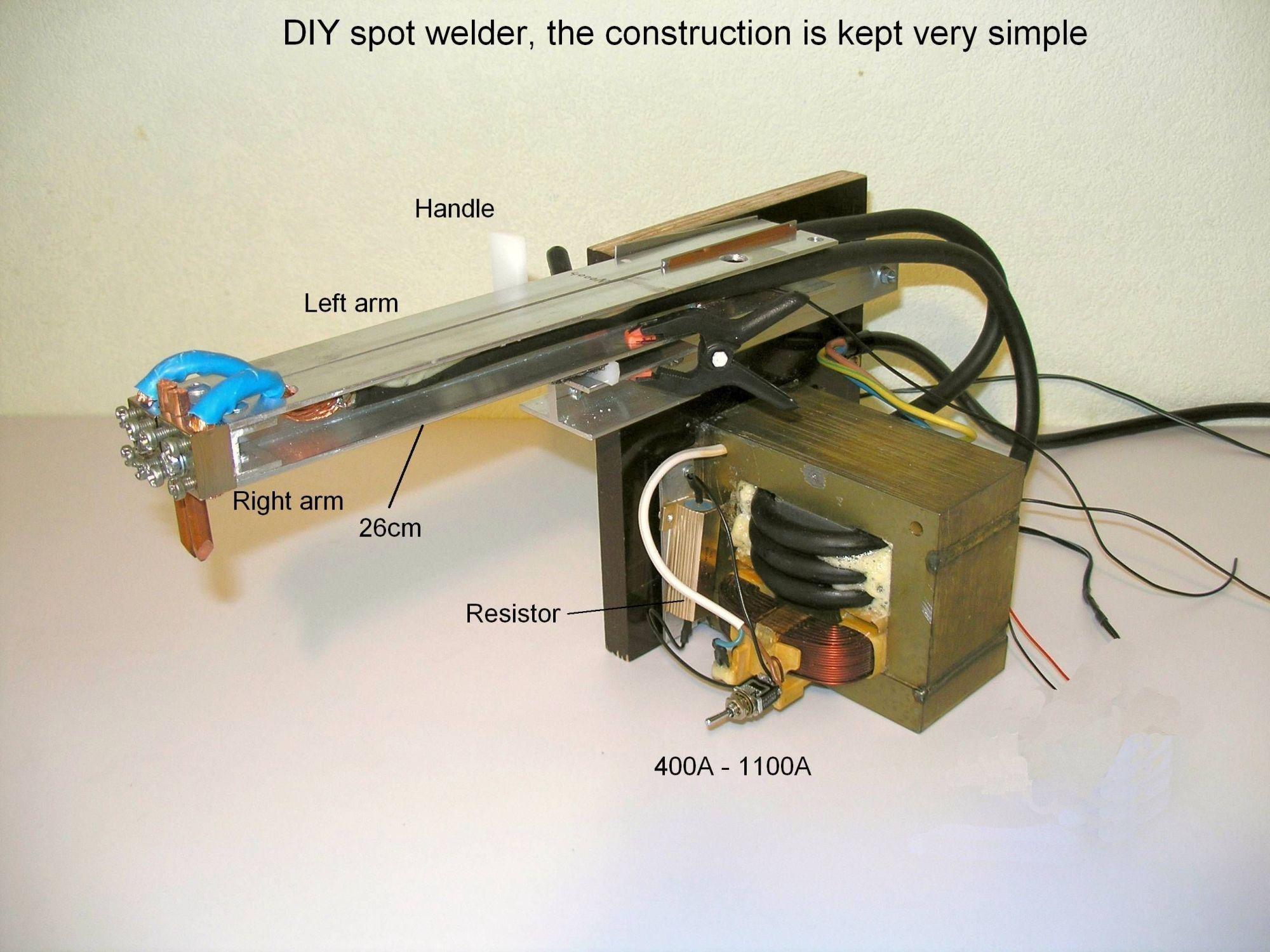 hight resolution of diy battery tab resistance fine spot welder