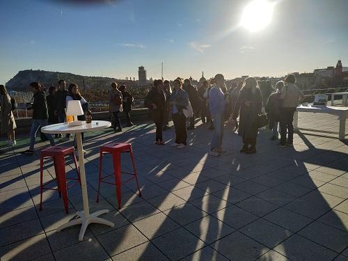 Evento terraza Tiendeo se ve el ambiente
