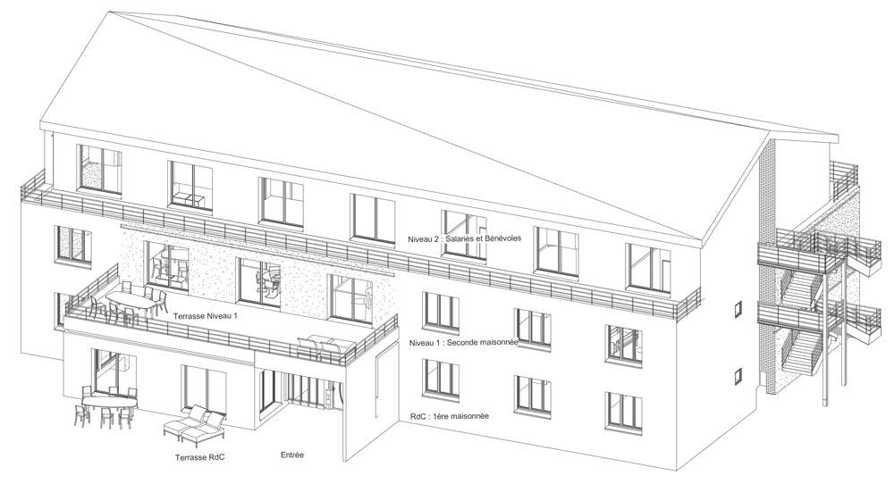 Maison Léonard de Vinci habitat inclusif handicap Quimper