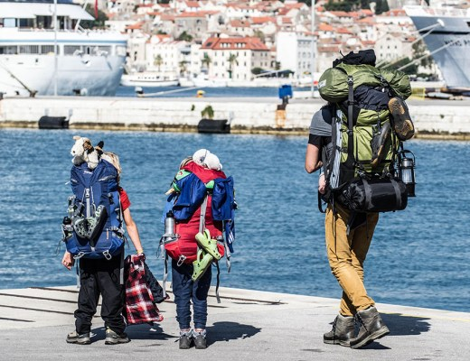 backpacking mit Kindern