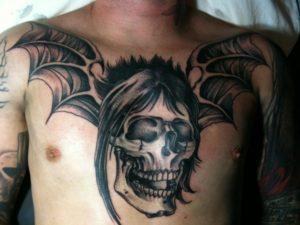 tatuaggio Johnny Christ Deathbat