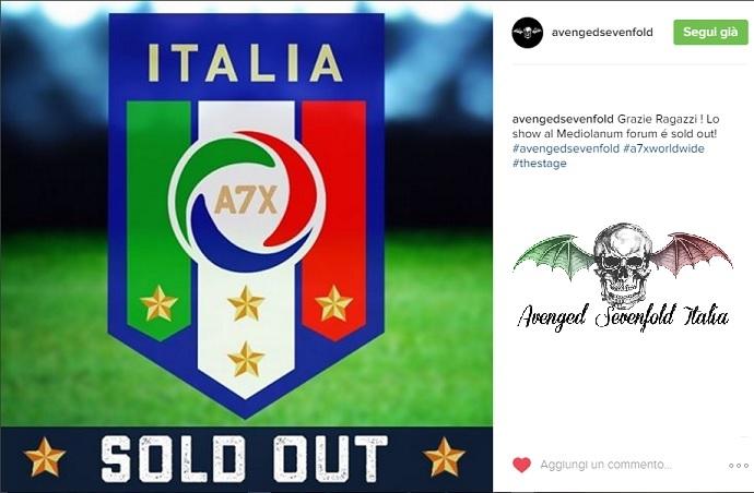 Il secondo sold out in Italia