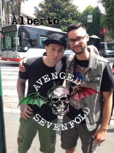 Fan italiani con Zacky Vengeance