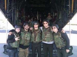 A7X with troops - Iraq 11-2010