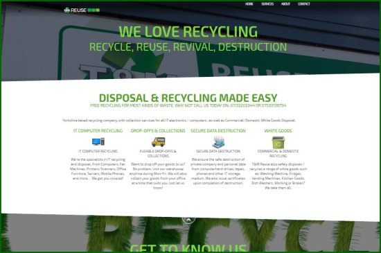 TMREUSE IT & WEEE Recycling - Computer Disposal - Secure Data Destruction WEST YORKSHIRE