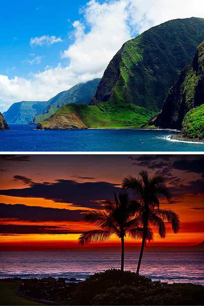 "The Ultimate Guide to all of the Hawaiian Islands! Molaka'i – Supposedly this is the ""purest"" and least developed all the Hawaiian islands. If you come to this island, you will not find Starbucks and fancy resorts, but you can expect to experience the classic slower paced island style. Click through to read the full post!"