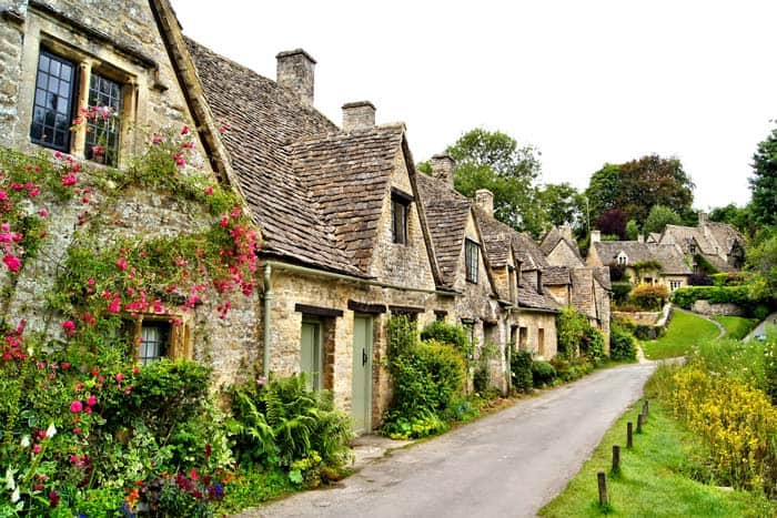 Bibury, England! Thankfully the United Kingdom has chosen to preserve this gem. The most gorgeous fairy tale travel destinations in the world!