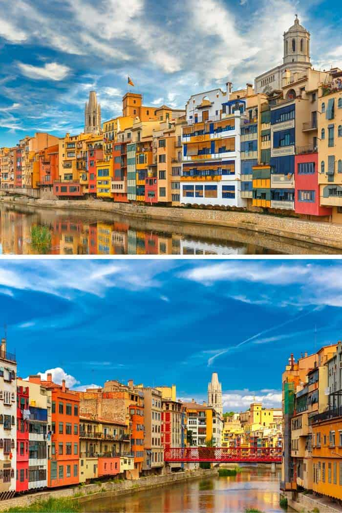 Girona, Catalonia, Spain! Click through to see some of the most colorful cities in the world! This post does not contain industrial soot stained cities; instead it showcases some of the most vibrant looking cities in the world.