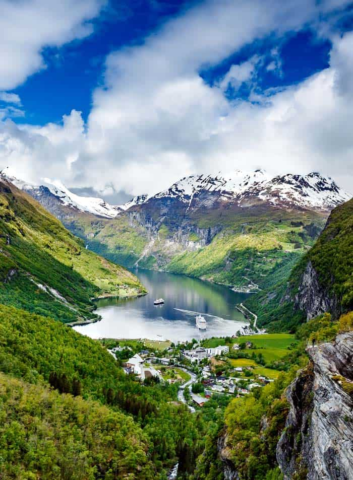 The famous Geiranger Fjord.