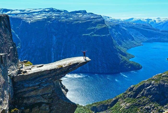 Trolltunga (The Troll's tongue) in Odda.