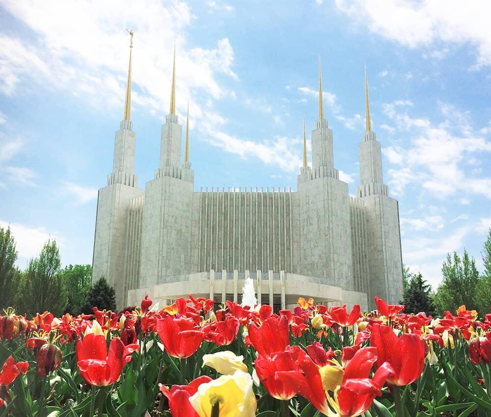 LDS Mormon Temple in Washington, DC