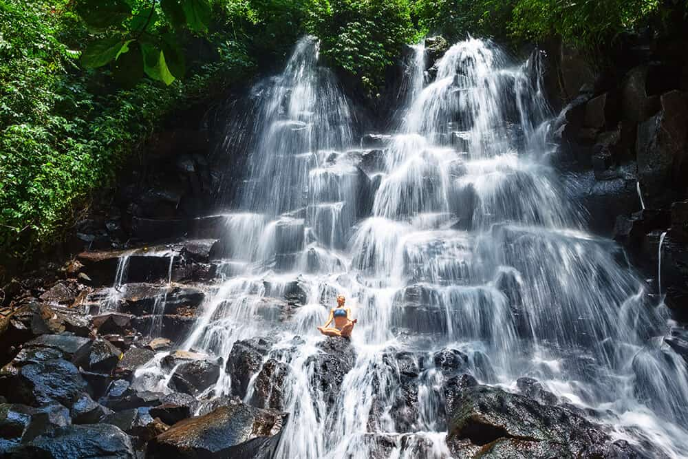 Jembong Waterfall in Bali, Indonesia. See the best waterfalls in Asia on Avenlylanetravel.com