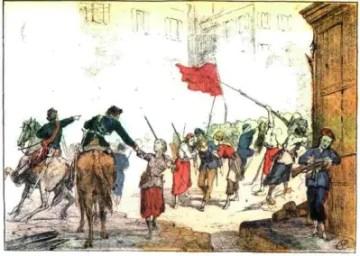 Comuna de Paris: Barricada da Praça Blanche, defendida por mulheres