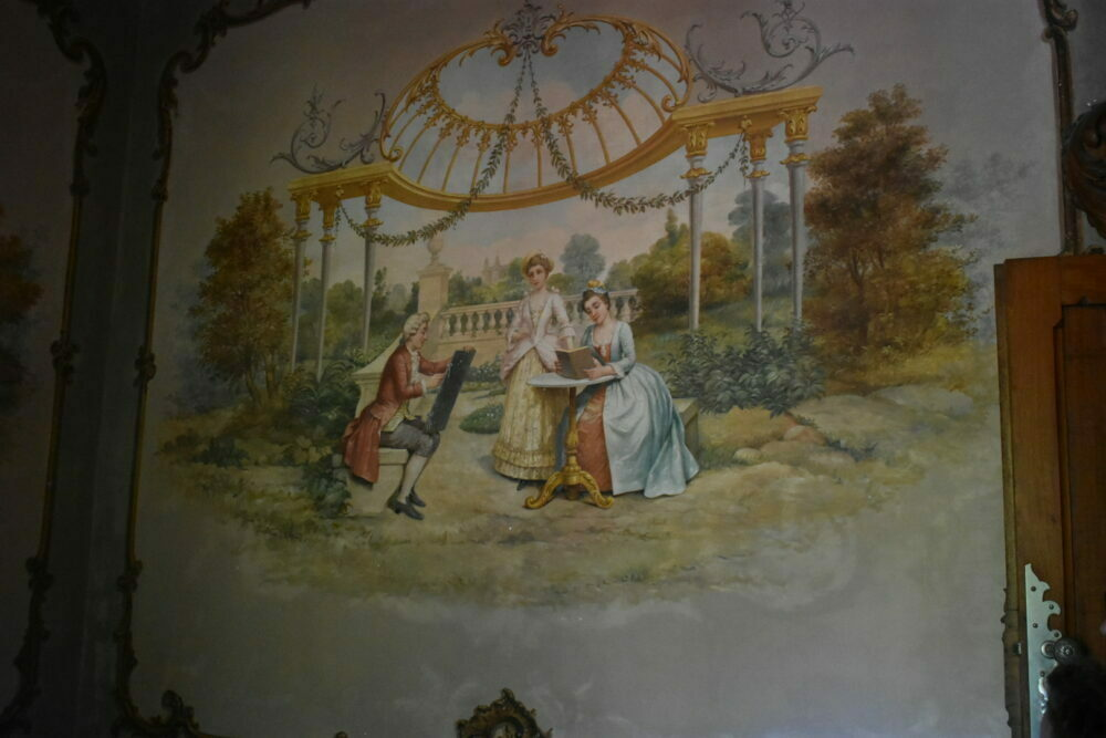 Pintura palacio quinta da regaleira aventurasantona portugal