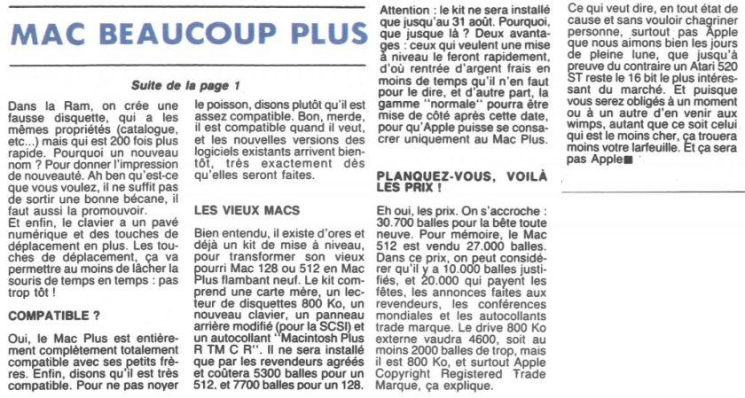 Hebdogiciel Mac Plus 1986