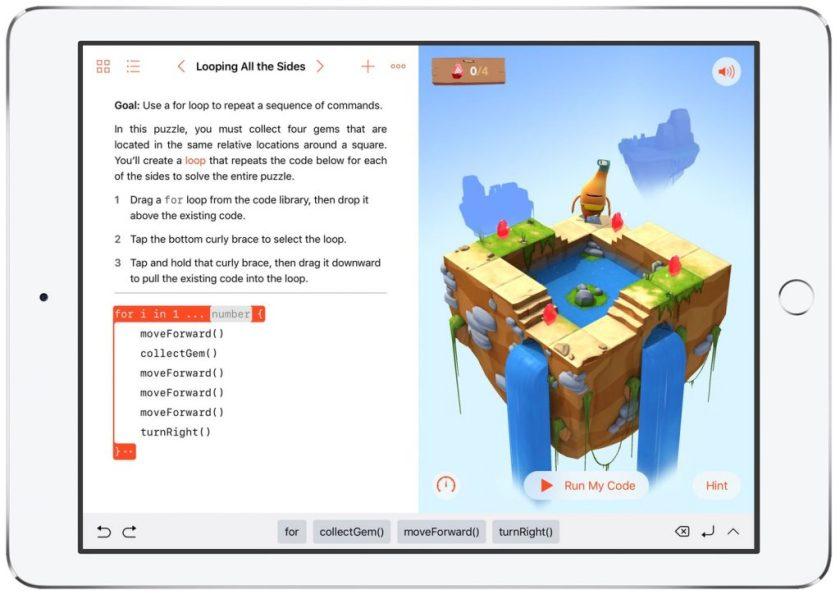Swift Playground sur iPad