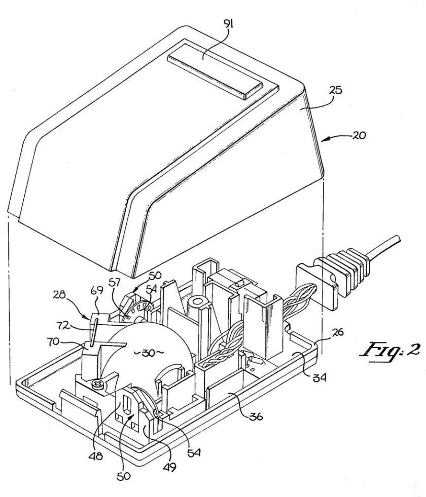 Apple Lisa Mouse US patent 4,464,652
