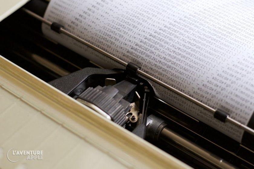 Apple ImageWriter 1983 print head