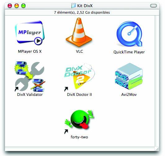 DivX software for Macintosh MacOS X