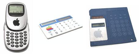Three Apple calculators on redlightrunner