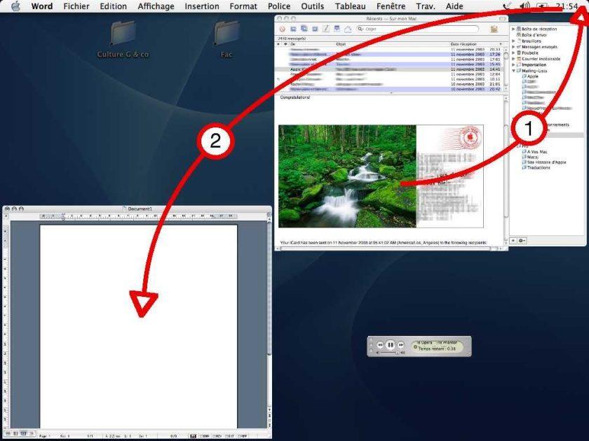 Exposé sur Mac OS X en 2003
