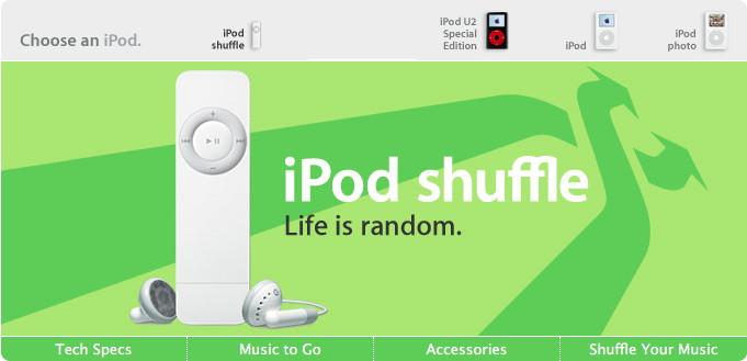 2005 iPod shuffle Apple